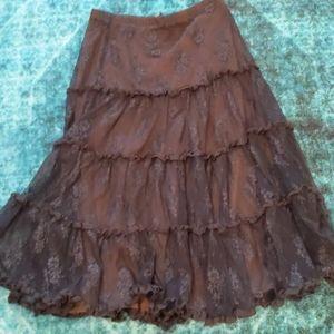 Longer midi black lace